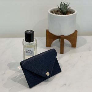 Dagne Dover Navy Blue Leather Card Case $45 OBO